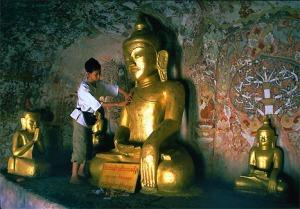 Buddha Cave Pagoda Mural Painting