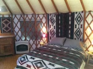 Yurt Sleeping space